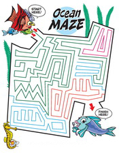 Ocean Maze activity sheet - Pediatric Dentist in Pompton Lakes, NJ